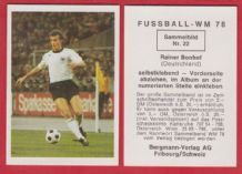 West Germany Rainer Bonhof Borussia Monchengladbach